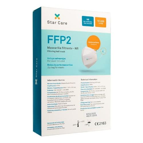 Mascarilla ffp2 starcare caja 10 unidades