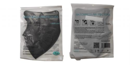 Mascarilla FFP2 infantil negra 1 ud