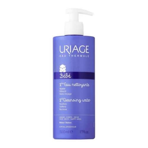 Uriage 1er eau limpieza sin aclarado (1 envase 500 ml)