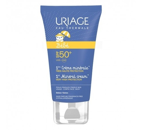 Uriage bebe 1era crema mineral spf50+ (1 envase 50 ml)