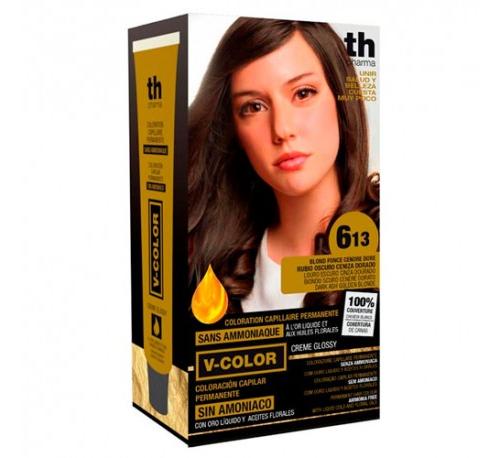 Th pharma vitalia sin amoniaco - coloracion capilar permanente (color  6.13 rubio oscuro ceniza dora