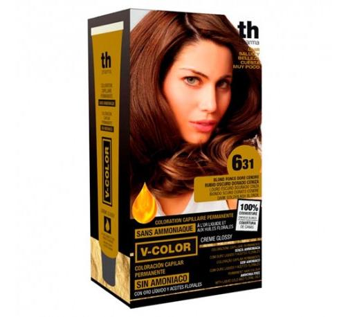Th pharma vitalia sin amoniaco - coloracion capilar permanente (color  6.31 rubio oscuro dorado ceni