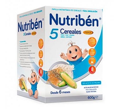 Nutriben 5 cereales y fibra 600 gr