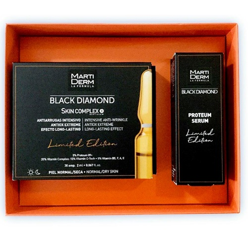 Martiderm pack black diamond 30 amp+proteum serum mini