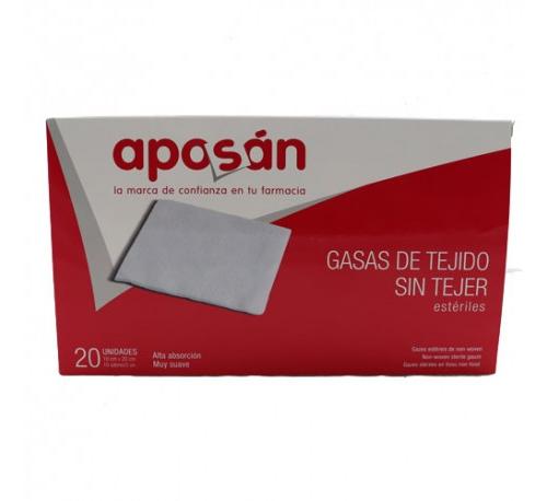 Aposan gasa esteril tejido sin tejer compresas (10 cm x 20 cm 20 gasas)