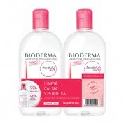 Bioderma duplo sensibio h20 500+500ml