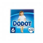 Pañal infantil - dodot (t- 6 17- 28 kg 22 u)