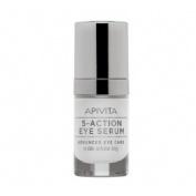Apivita 5-action serum ojos lirio blanco 15ml