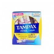Tampax compak pearl tampon 100%algodon (16 unidades regular)