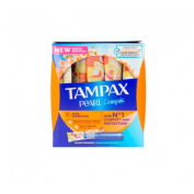 Tampax compak pearl tampon 100%algodon (super plus 18 u)