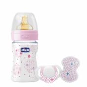 Chicco set wellbeing rosa silicona