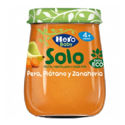 Hero baby solo pera platano y zanahoria (120 g)