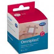 Esparadrapo hipoalergico - omniplast (tejido resistente 5 m x 5 cm)