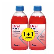 Oralkin enjuague 500 ml.  pack 2x1