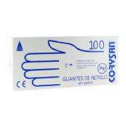Guantes de nitrilo para exploracion - corysan ambidiestro no esteril (t- gde 100 u)