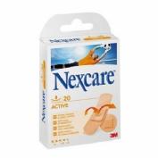 3m nexcare active - aposito adhesivo (surtido 20 u)
