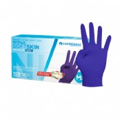 Guantes nitrilo talla m azul sin polvo 100 unidades