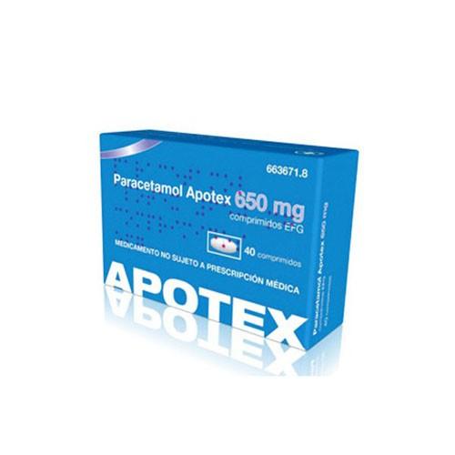 PARACETAMOL APOTEX 650 mg COMPRIMIDOS EFG, 20 comprimidos