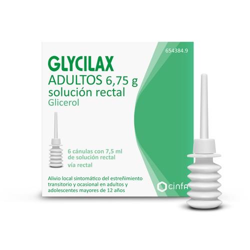 GLYCILAX ADULTOS 6,75 g  SOLUCION RECTAL , 6 enemas