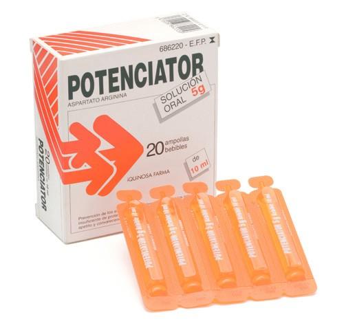 POTENCIATOR 5 g SOLUCION ORAL , 20 ampollas bebibles de 10 ml