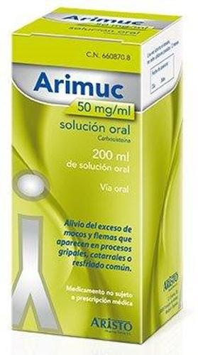 ARIMUC 50 mg/ml SOLUCION ORAL , 1 frasco de 200 ml