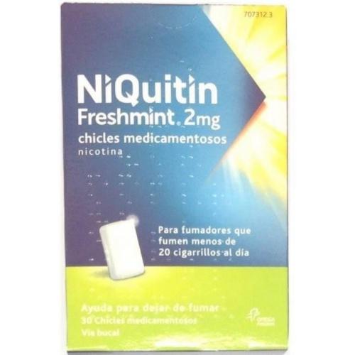 NIQUITIN FRESHMINT 2 MG CHICLES MEDICAMENTOSOS 30 chicles (Blister Al/PVC/PVDC)