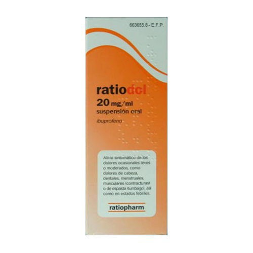 IBUPIRAC 20 mg/ ml SUSPENSION ORAL , 1 frasco de 200 ml