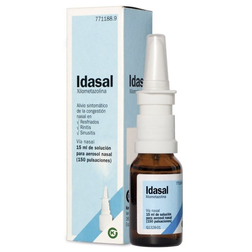 IDASAL 1mg/ml SOLUCION PARA PULVERIZACION NASAL , 1 frasco de 15 ml