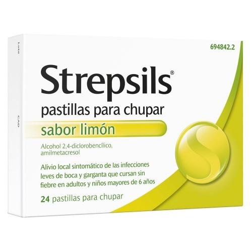 STREPSILS pastillas para chupar sabor limon, 24 pastillas