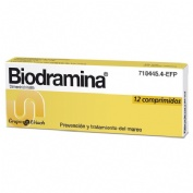 BIODRAMINA 50 mg COMPRIMIDOS , 12 comprimidos
