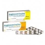 ANGINOCOM 5 mg/ 5 mg COMPRIMIDOS PARA CHUPAR SABOR NARANJA, 20 comprimidos