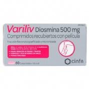 VARILIV DIOSMINA 500 MG COMPRIMIDOS RECUBERTOS CON PELICULA , 60 comprimidos
