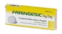FARINGESIC 5 mg/5 mg COMPRIMIDOS PARA CHUPAR SABOR LIMON, 20 comprimidos